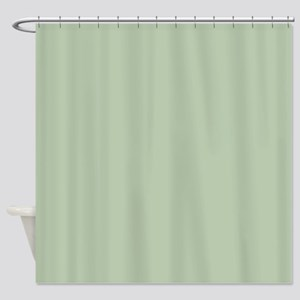 Painted Circles plain leaf green Shower Curtain