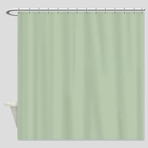 Painted Circles plain leaf green Shower Curtain
