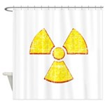 Vintage Radioactive symbol 2 Shower Curtain
