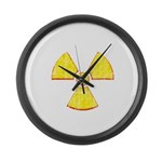 Vintage Radioactive symbol 2 Large Wall Clock