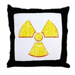 Vintage Radioactive symbol 2 Throw Pillow