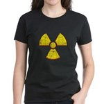 Vintage Radioactive symbol 2 Women's Dark T-Shirt