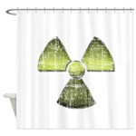 Vintage Radioactive Symbol 3 Shower Curtain
