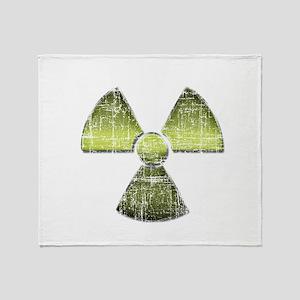 Vintage Radioactive Symbol 3 Throw Blanket
