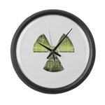 Vintage Radioactive Symbol 3 Large Wall Clock