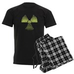 Vintage Radioactive Symbol 3 Men's Dark Pajamas