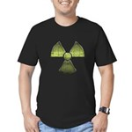 Vintage Radioactive Symbol 3 Men's Fitted T-Shirt