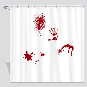 Murder Scene Shower Curtains