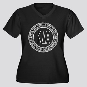 Kappa Delta Women's Plus Size V-Neck Dark T-Shirt