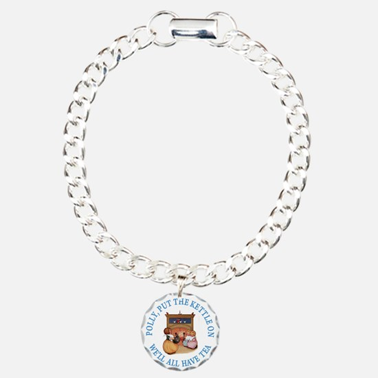Polly Put The Kettle On Charm Bracelet, One Charm
