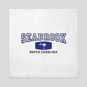 Seabrook South Carolina, SC, Palmetto State Flag Q