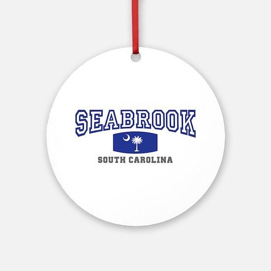 Seabrook South Carolina, SC, Palmetto State Flag O