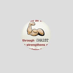 Philippians 4:13 Mini Button