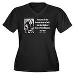 Oscar Wilde 29 Women's Plus Size V-Neck Dark T-Shi