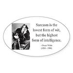 Oscar Wilde 29 Sticker (Oval)
