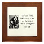 Oscar Wilde 29 Framed Tile