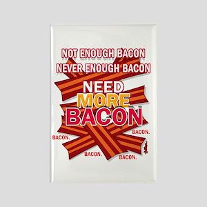 Never Enough Bacon Rectangle Magnet