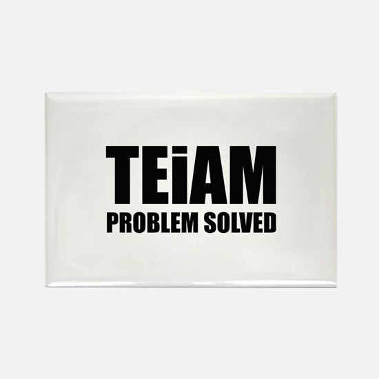 TEiAM Problem Solved Rectangle Magnet (100 pack)