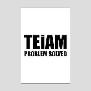 TEiAM Problem Solved Mini Poster Print