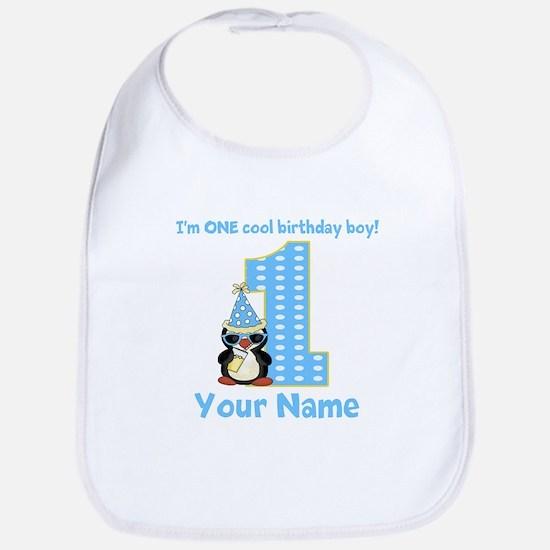 1st Birthday Penguin Bib