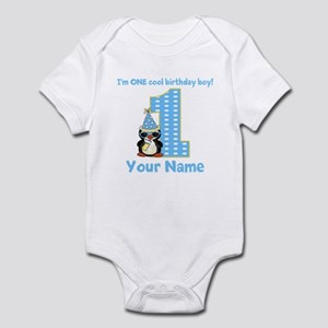 1st Birthday Penguin Infant Bodysuit