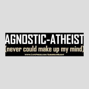 """Agnostic-Atheist"" 42x14 Wall Peel"
