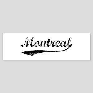Vintage Montreal Bumper Sticker