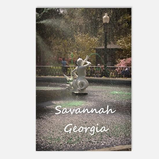 Savannah GA greening Postcards (Package of 8)