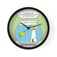 OTL Fishbowl Lighthouse Wall Clock