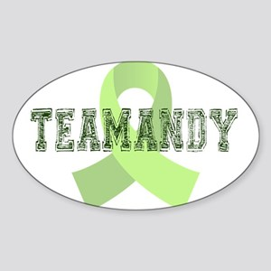 TeamAndy University Draft Fon Sticker (Oval)
