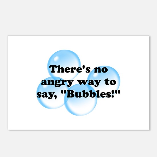 Angry Bubbles Postcards (Package of 8)
