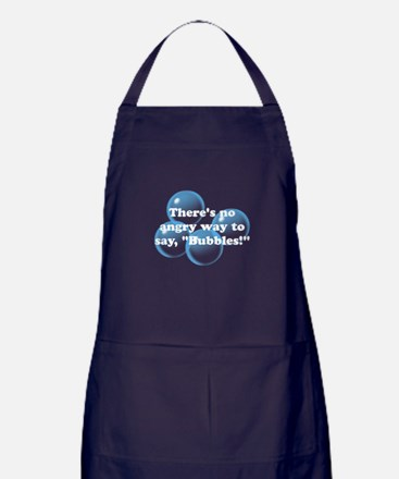 Angry Bubbles Apron (dark)