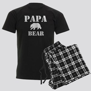 Papa Mama Baby Bear Men's Dark Pajamas