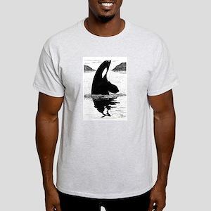 SpyHopping Killer Whale Ash Grey T-Shirt