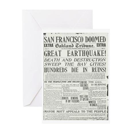 Oakland Tribune 1906 SF Earthquake Greeting Card