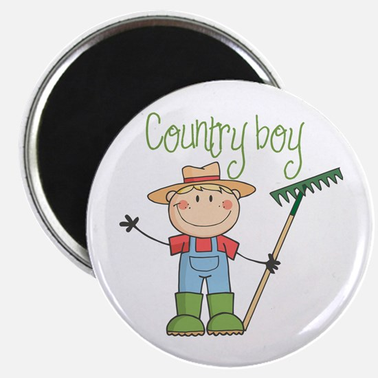 Country Boy Farmer Magnet