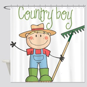 Country Boy Farmer Shower Curtain