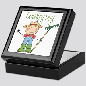 Country Boy Farmer Keepsake Box