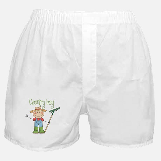 Country Boy Farmer Boxer Shorts