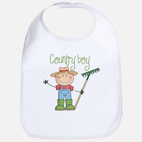 Country Boy Farmer Bib