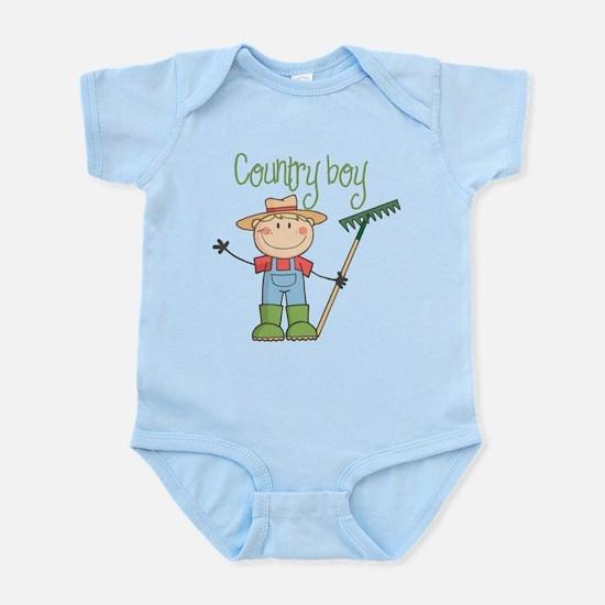 Country Boy Farmer Infant Bodysuit