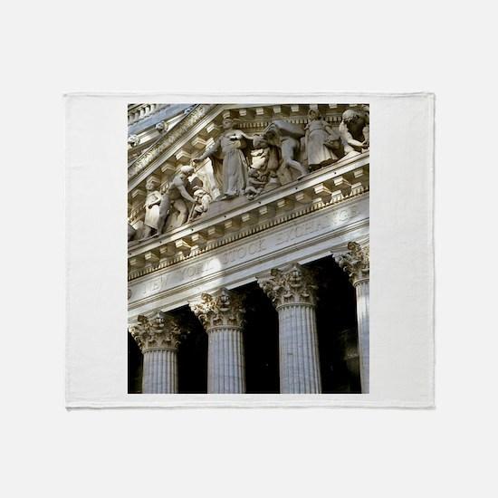 New York Stock Exchange Throw Blanket