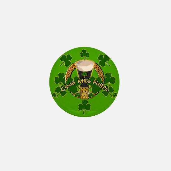 100 Thousand Welcomes Green Irish Mini Button