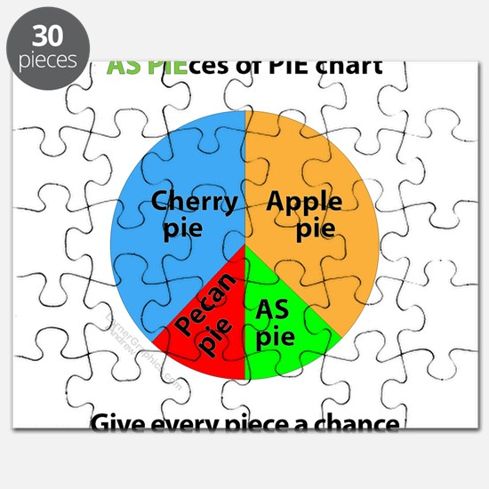 AS Pieces of pie chart Puzzle