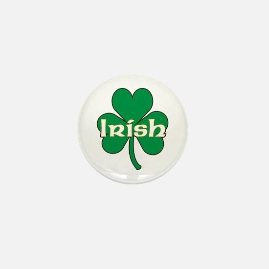 Irish Shamrock Mini Button