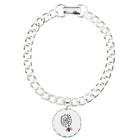 Spider And Web Charm Bracelet, One Charm