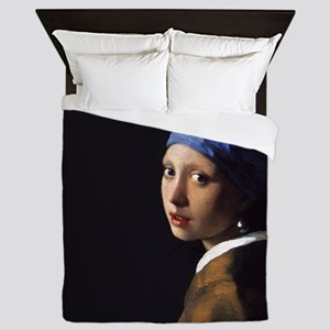 Johannes Vermeer Pearl Earring Queen Duvet