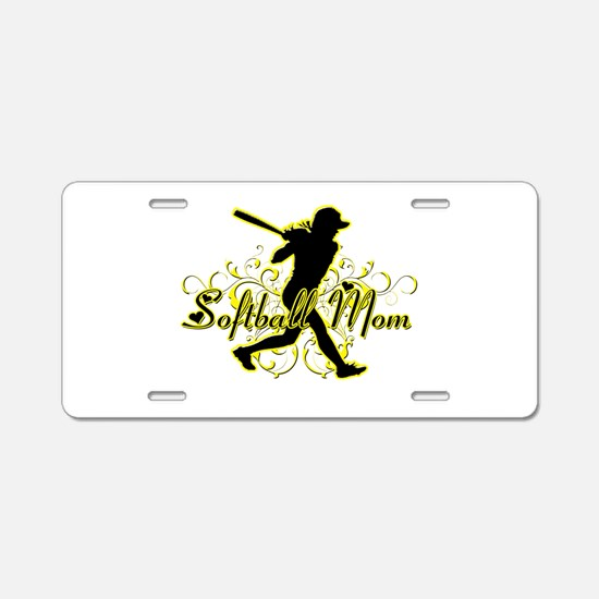 Softball Mom (player) Aluminum License Plate