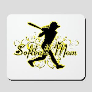 Softball Mom (player) Mousepad