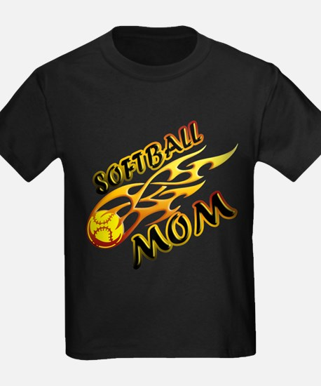 Softball Mom (flame) T